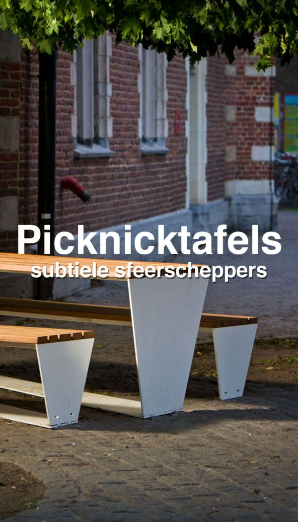 Picknicktafels wolters mabeg straatmeubilair